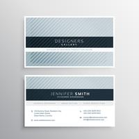 clean blue gray business card design template