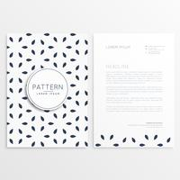 stylish letterhead design in minimal style