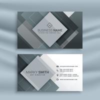 Diseño de tarjeta de visita abstracta con formas geométricas