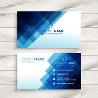 abstract blue business card  template vector design illustration