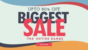 grootste verkoop banner poster advertentiesjabloon