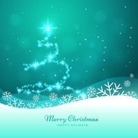 kerstboom gemaakt met glitter