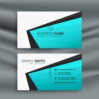 elegante plantilla de diseño de tarjeta de visita azul