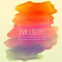 watercolor ink background in retro theme vector design illustrat