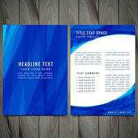 blue abstract brochure flyer creative vector design illustration