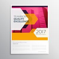 Diseño de plantilla de folleto de negocio abstracto elegante con flecha sha