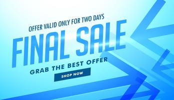 sale advertising banner with blue arrows for advertising
