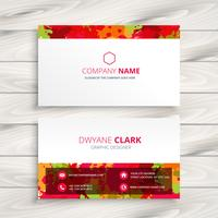 grunge style business card template vector design illustration