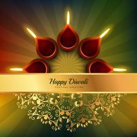 Diwali Festival Diya Vektor Hintergrund Design