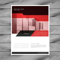 red brochure layout template for business presentation