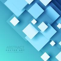 blauer Hintergrund mit geometrischen quadratischen Formen