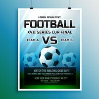 football game event tournament invitation design template