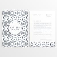 modern letterhead design template with abstract pattern