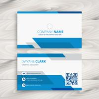 blue corporate business card template vector design illustration