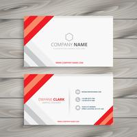 white red business card template vector design illustration