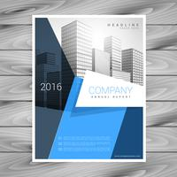 modern blue business brochure flyer design vector template