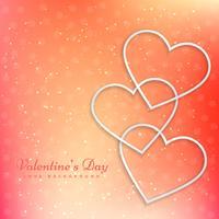 valentine greeting card vector design illustration