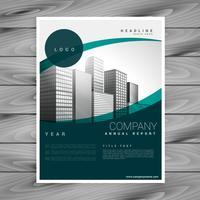 modèle de dépliant business flyer affiche design avec des courbes et sp