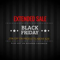 Schwarzer Freitag erweiterter Verkauf