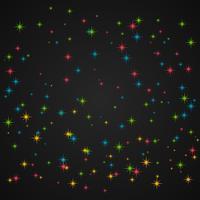 brillo de colores en fondo oscuro