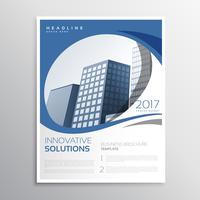 blue business flyer leaflet annual report cover page design