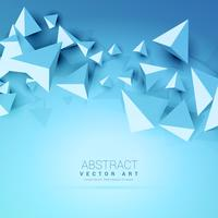 Abstrait bleu de triangles 3D