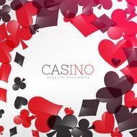 projeto de plano de fundo do cassino com símbolo de cartas de jogar