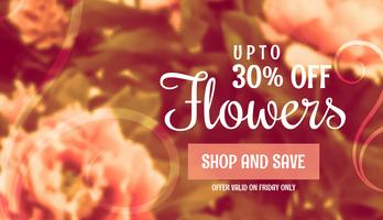 beautiful flower sale banner template for marketing and promotio