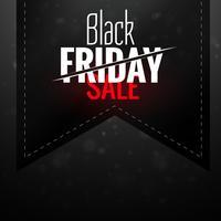 black friday dark sale ribbon label design