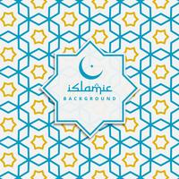 islamic pattern background in blue and yellow color