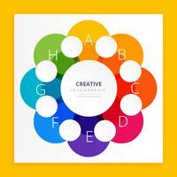 färgstark infografisk design