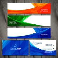 set of colorful business stationery vector design