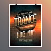 party event flyer template including venue and date