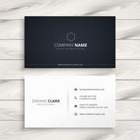 simple business card in black and white style vector design illu