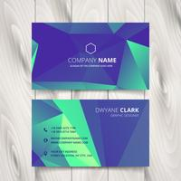triangulated blue purple business card vector
