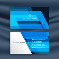 blue abstract business card design