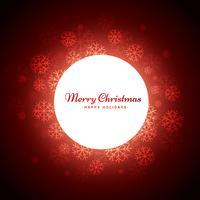 fundo vermelho de Natal com flocos de neve