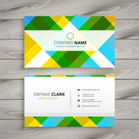 abstract patten business card template vector design illustratio