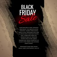 black friday sale grungy poster design illustration