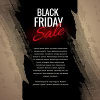 Ilustración de diseño de cartel grungy venta de viernes negro