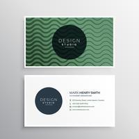 design de cartão de visita com linhas onduladas