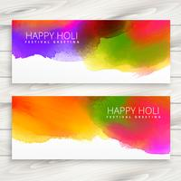 set of happy holi banners and headers