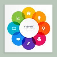 diseño de infografía iconos de negocios