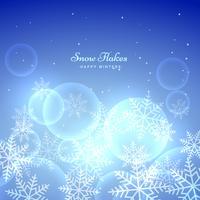 blå bakgrund med snöflingor