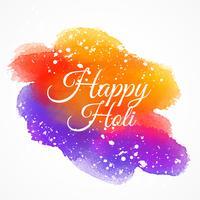 mancha de tinta de colores con texto feliz holi