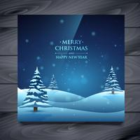 tarjeta de felicitación de navidad y año nuevo