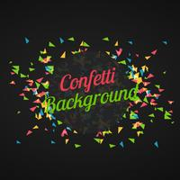 abstract triangle confetti in dark background