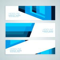 abstract blue geometrical banners