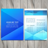 abstract polygonal brochure flyer design template