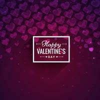 purple hearts valentines day card vector design illustration